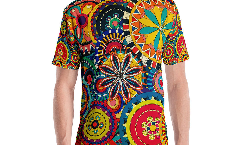 Trippy Psychedelic Merry-Go-Round Mulit-colored T Shirt