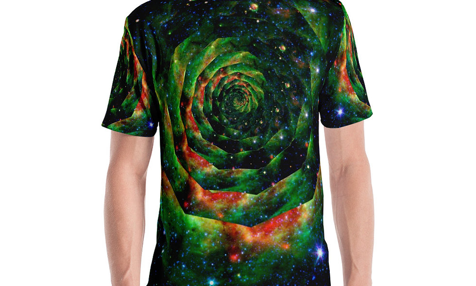 Trippy Psychedelic Spiral T Shirt | Spacey T Shirt for Festivals and Good Times