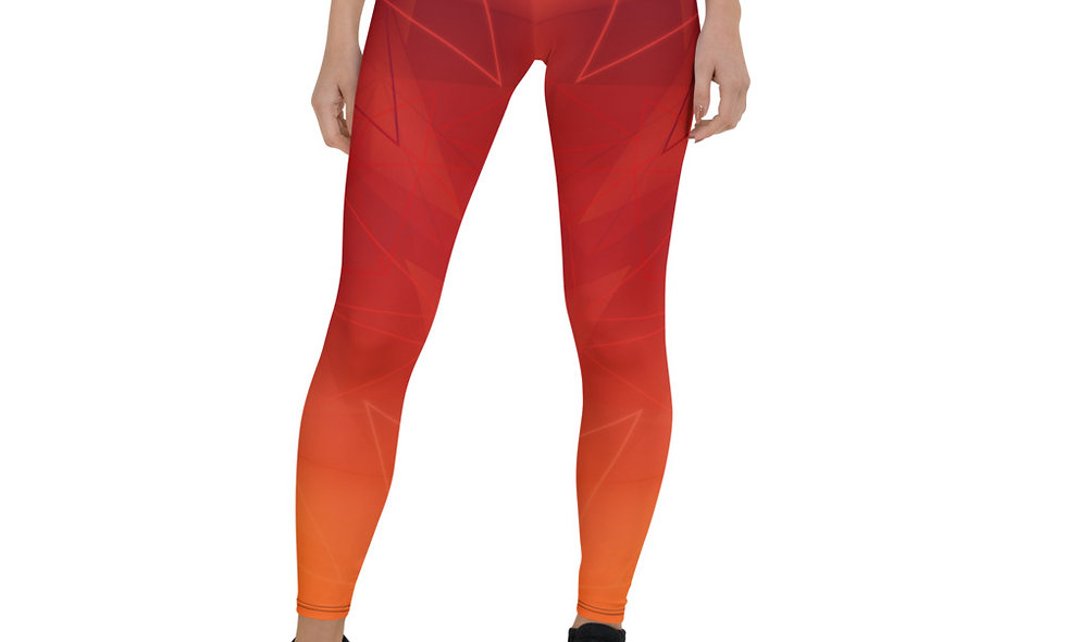 Ember Leggings for Women - Red, Orange, and Yellow Gradient