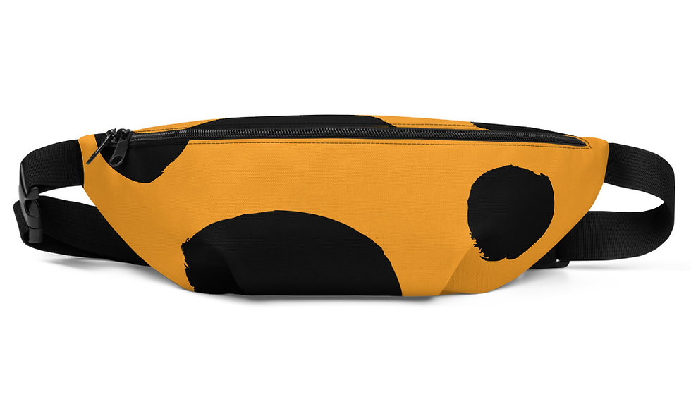 Cheetah Print Fanny Pack - Orange and Black - Trendy Animal Print