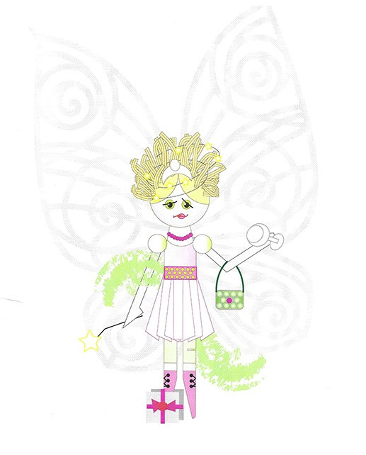 Sketch for a fairy peg doll