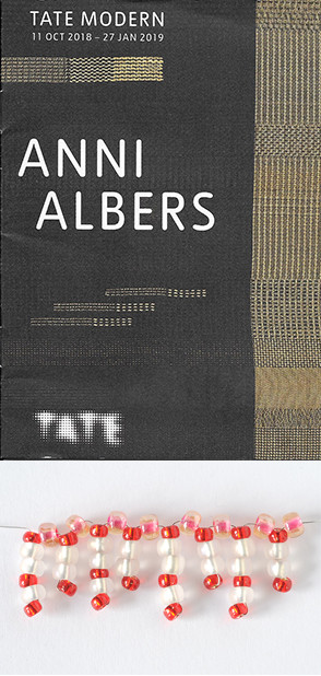 Anni Albers Booklet cover and bead star making image