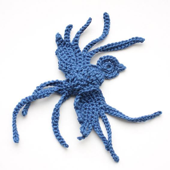 Crochet bluebird