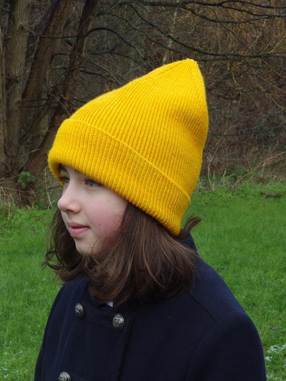 Yellow rib beanie hat