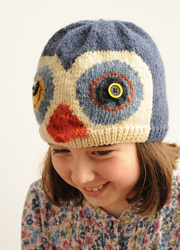 Knitted penguin hat
