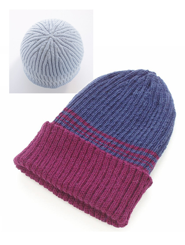 Rib top-down hat and detail