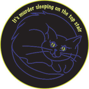 black cat pin badge