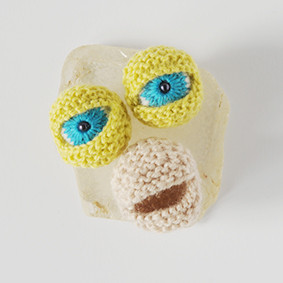 Knitted eyes