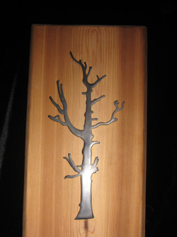 Evolution of Beauty (on Pine Plank)