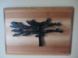 My Better Half #3(on pine slab)