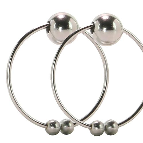 Pierce Free Nipple Rings in Silver.