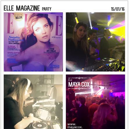 ELLE MAGAZINE party