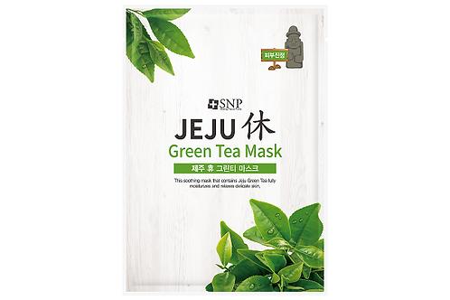 S N P Jeju Rest Green Tea Mask