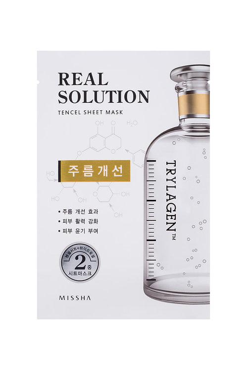 Missha Real Solution Tencel Sheet Mask (Wrinkle Caring) TRYLAGEN