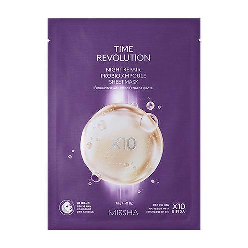 Missha Time Revolution Night Repair Probio Ampoule Sheet Mask
