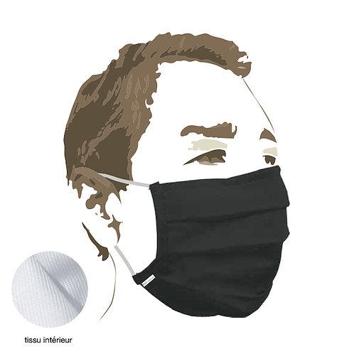 MASQUE tissu - black - Protection aérosol >90% - boîte de 5 pces