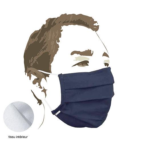 MASQUE tissu - navy - Protection aérosol >90% - boîte de 5 pces