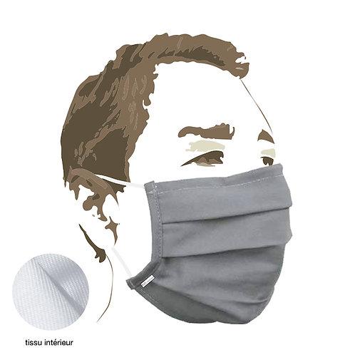 MASQUE tissu - grey - Protection aérosol >90% - boîte de 5 pces