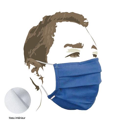 MASQUE tissu - blue - Protection aérosol >90% - boîte de 5 pces