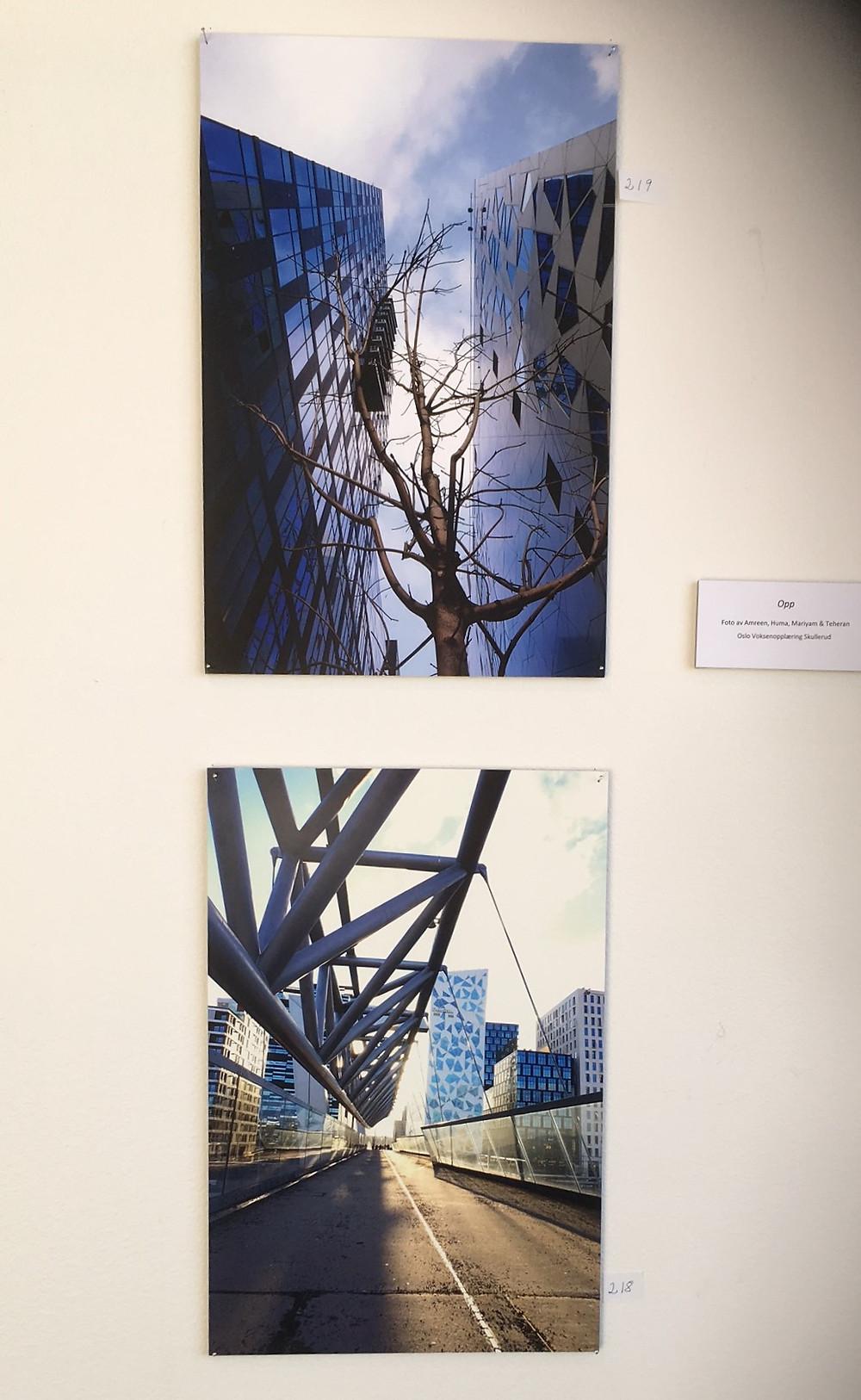 Spennende perspektiver og flott dybde i bildene som Amreen Khan har vært med på å lage.