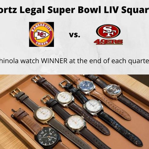 Fortz Legal Super Bowl LIV Squares