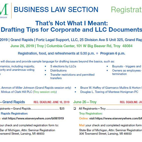 Drafting Tips for Corporate and LLC Documents