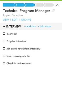 Job card example