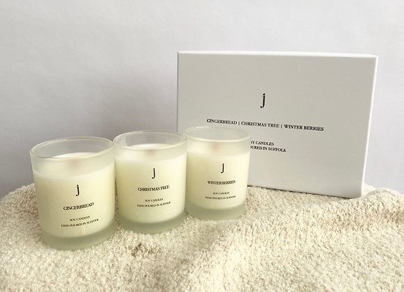 Gift Set of 3 mini candles
