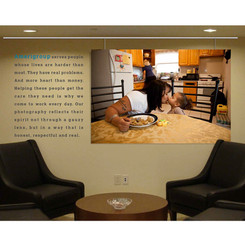 We brought the new branding inside the company through interior design.