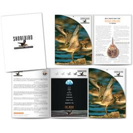 Manomet pocket folder with inner brochure/folder housing 10 flexible sell sheets. Used for fund raising.