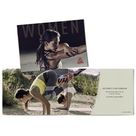 Reebok women specific 20 page book, designed to be handed out in store.
