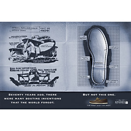 Inundated by Johnny-come-lately boat shoes (in the European marketplace), Sperry wanted this campaign to tout the fact that their shoes are the authentic originals.