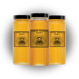 New packaging has tripled Famous Fred's business. He now sells over SIXTY jars of honey per year!