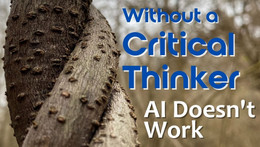 Without a Critical Thinker, AI Doesn't Work