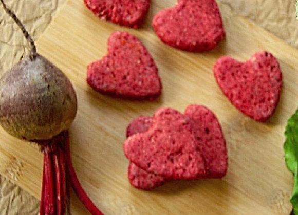 Heart Beet Biscuits