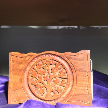 Hand carved Wood Boxes