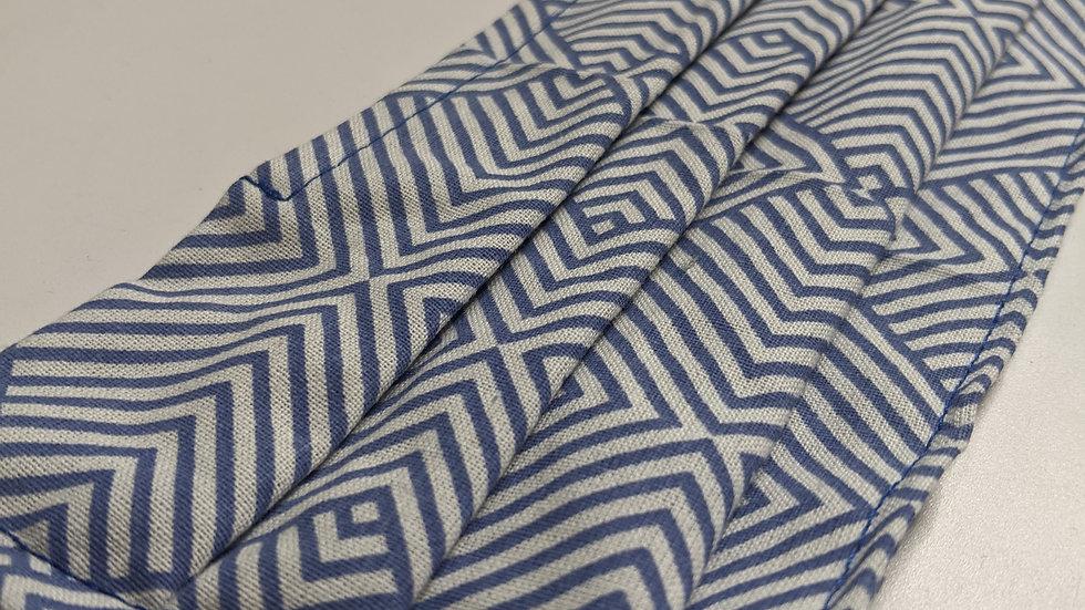 Blue / White Geometric