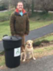 Owner and Dog (Georgia) of Valley Curbside Recycling