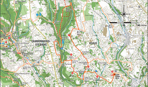 Cette promenade parcourt les vallons boisés des ruisseaux de Serres et de Planches jusqu'à Dardilly. Empruntez le sentier du bois de Serres qui vous surprendra par le calme et la sérénité qui règnent en ces lieux.