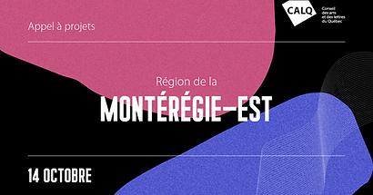 2e appel de projets pour les artistes, écrivain(e)s et organismes artistiques de la Montérégie-Est