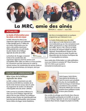 La MRC, amie des aînés - une nouvelle édition est disponible