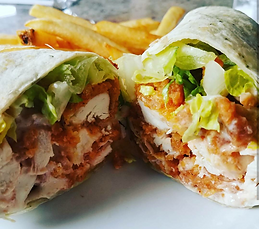 Joe's buffalo chicken wrap is one of many new menu additions