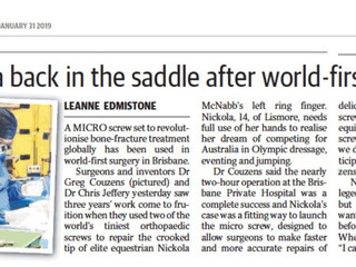 World First Surgery with the Field Orthopaedics Micro Screw