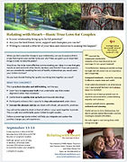 Basic True Love flyer for marriage therapy, couples counseling and retreats