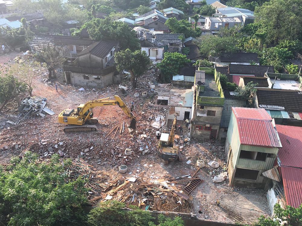 嘉禾新村拆除後的樣貌。圖片來源:好勁稻工作室(搶救嘉禾新村) 臉書
