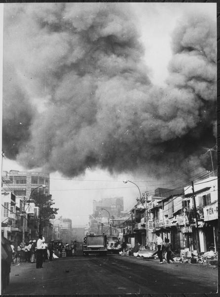 美萊村屠殺案前的一個多月前,「新年攻擊」(Tet Offensive)發生,很多人說這是越南戰爭的轉捩點。圖片來源:維基百科