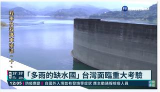 你知道台灣是水資源缺乏國家嗎?