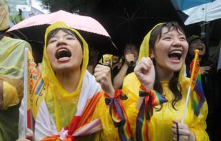 同婚案通過,期臺灣成為一個幸福的國家