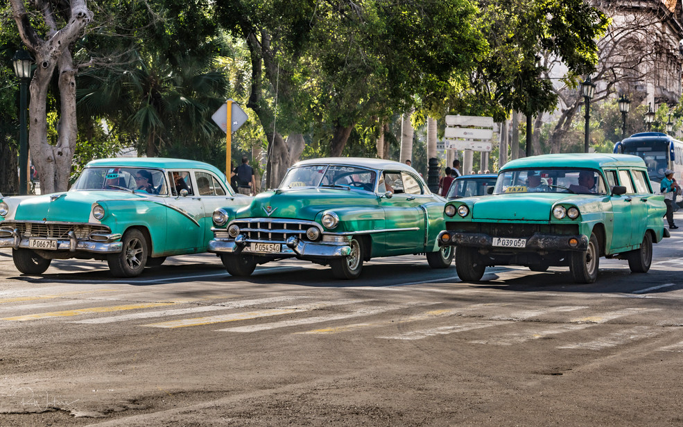 Three Aqua Taxis