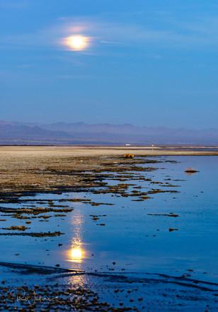 Moonrise on the Salton Sea